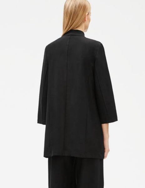 Eileen Fisher Washable Stretch Crepe Kimono Jacket  S9TL-J4784M