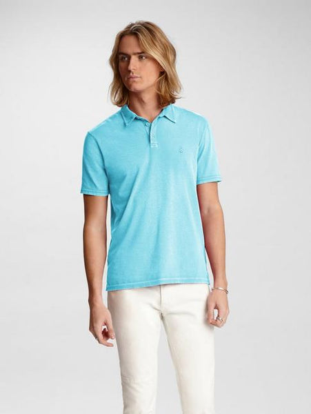 John Varvatos KNOXVILLE S/S PEACE POLO Pale Trqse