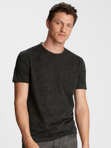 John Varvatos S/S Burnout Crew - Charcoal Heather