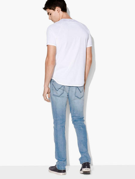 John Varvatos CONNOR S/S CREW WITH CONTRAST STITCH White