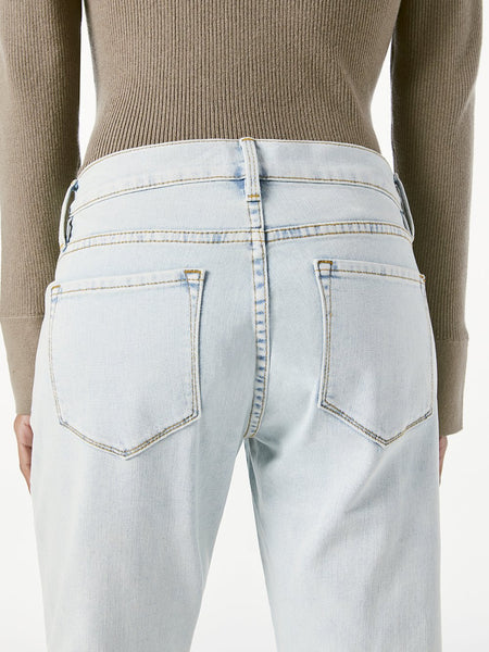 FRAME Le Garcon Crop Raw Edge Jean in Divisadero