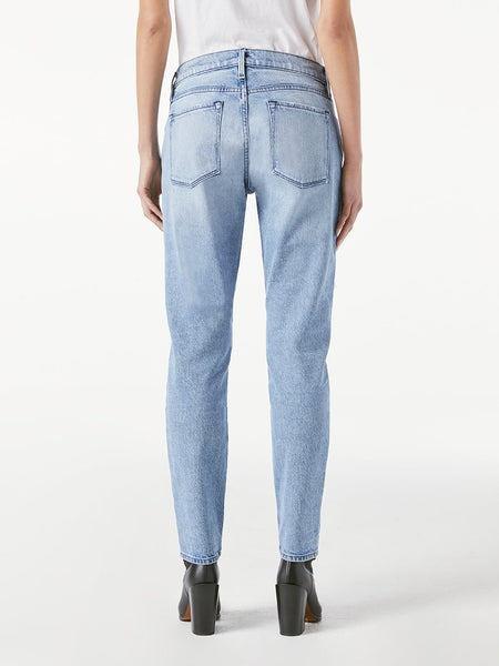 FRAME Le Garcon jean with rips in Beldon