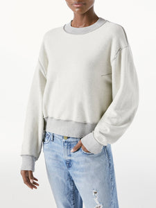 FRAME Inverse Easy Sweatshirt in Heather Grey