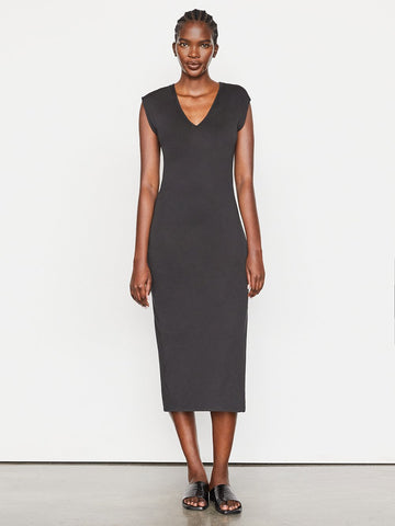 FRAME Le Muscle V Dress in Noir