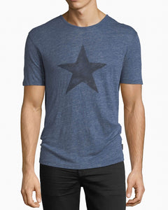 John Varvatos LINEN CREW WITH STAR PRINT TEE