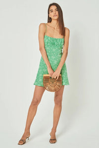 Auguste Maeve Davis Strappy Dress in Vibrant Green