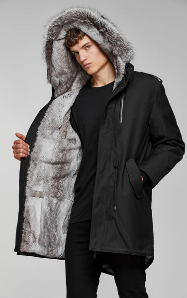Mackage Moritz-X Men's Twill Parka with Fur