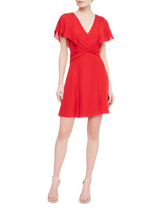 Parker Katie S/S Dress in Monaco Red