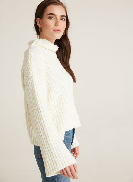 bella dahl  l/s loose turtle neck in chenille