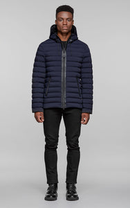 Mackage Ozzy Lightweight Hooded Down Jacket - Navy