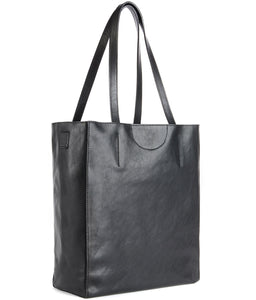 Brave Giovana Nappa Leather Tote in Black Cervo