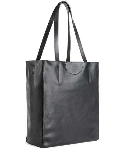 Brave Giovana Vachetta Leather Tote in Black