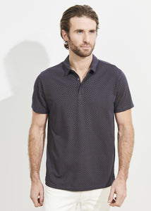 Patrick Assaraf SS All Over Print Polo - Cosmic