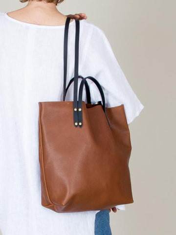 eleven thirty Romy leather tote in bronze