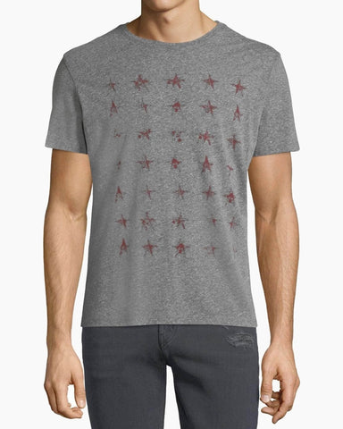 John Varvatos ROWS OF STARS GRAPHIC TEE