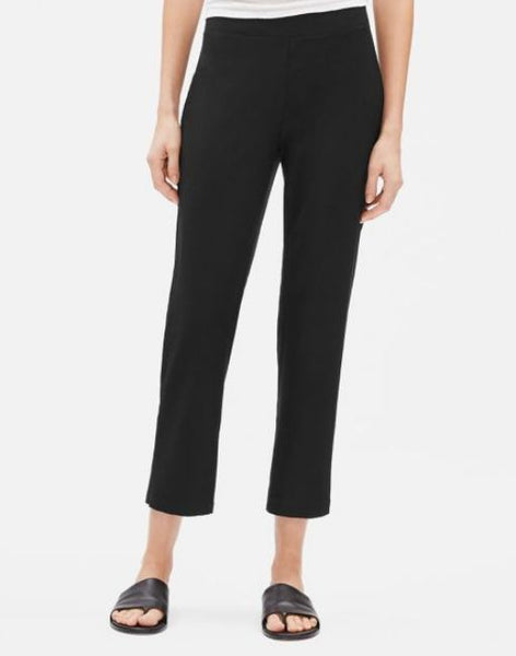Eileen Fisher Washable Stretch Crepe Flare Ankle Pant S9TK-P4160M