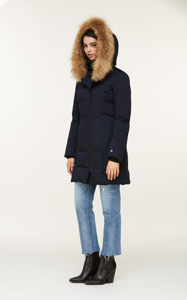 Soia&Kyo Salma-N Hooded Down Coat with Racoon Fur