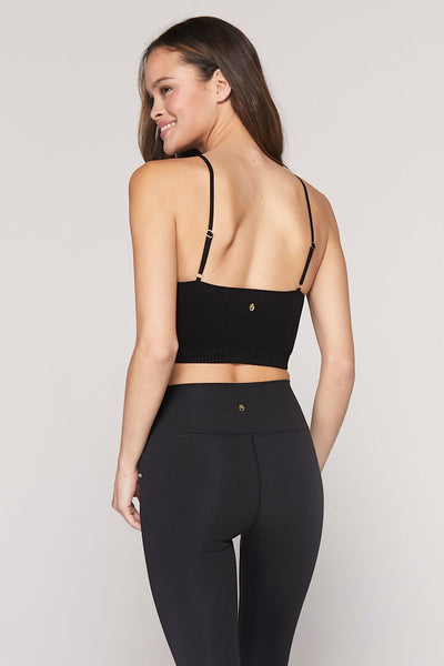spiritual gangster Row seamless crop top in black