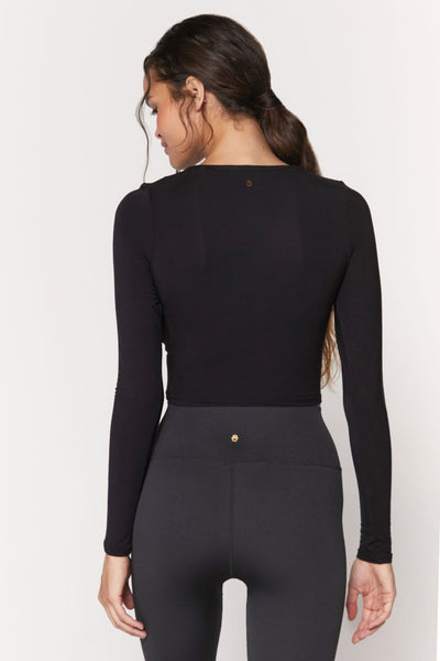 spiritual gangster  Muse twist front long sleeve in black