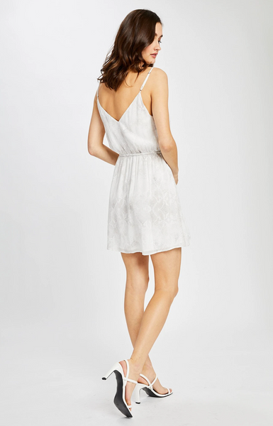 Gentle Fawn Selina Printed Sleeveless Dress in White Snake