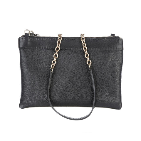 Brave Sharon 2 in 1 Leather Bag in Black/Silver