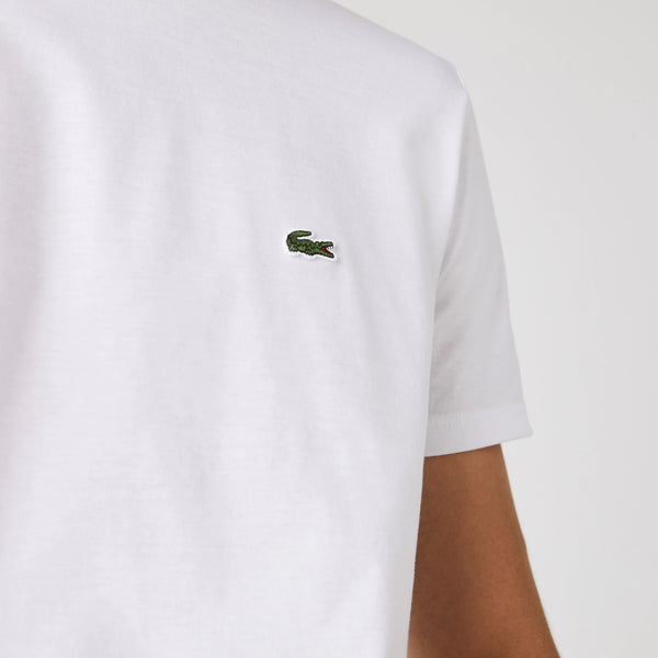 Lacoste Men's Crew Neck Pima Cotton T-Shirt - White