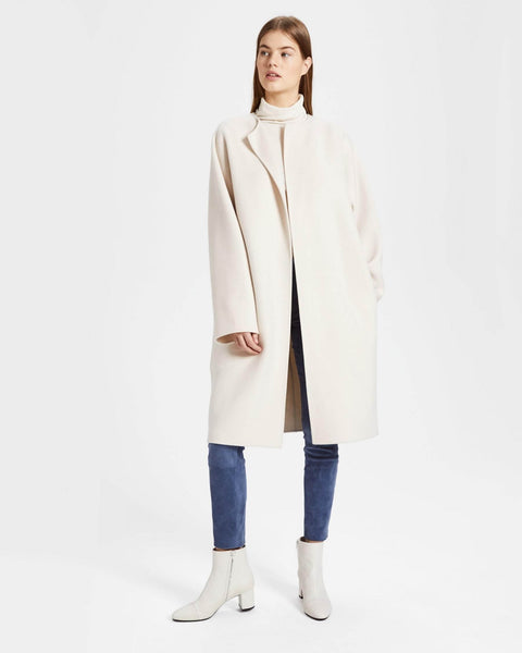 Theory Rounded Wool Cashmere CoatF8