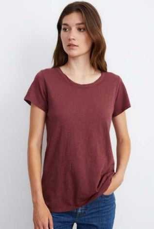 Velvet Tilly03 Originals Crew Neck Tee in Barrel