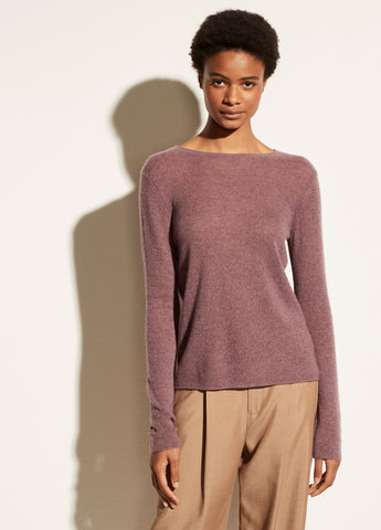VINCE. trimless pullover sweater in vervain