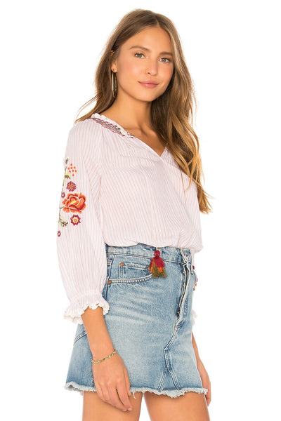 Velvet Rina03 Embroidered 3/4 Top