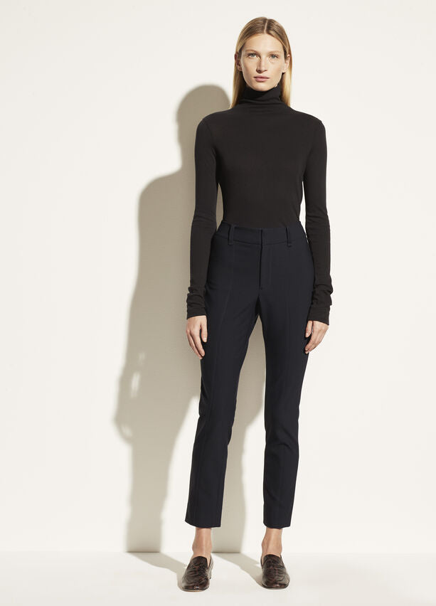 Vince High Waist Cigarette Pant in Black