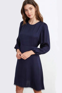 Velvet Rochelle04 Satin Viscose Dress in Night
