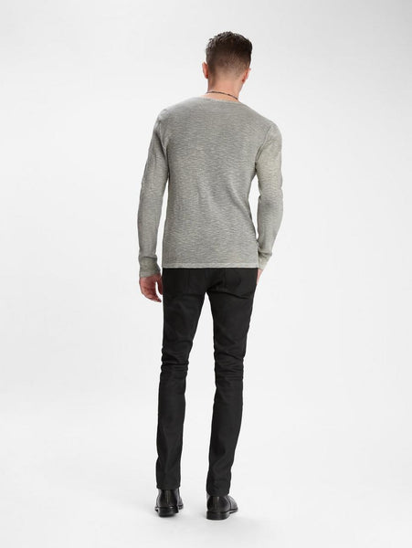 John Varvatos NASHVILLE WAFFLE HENLEY Grey Heather