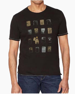 John Varvatos Zippos Graphic Tee