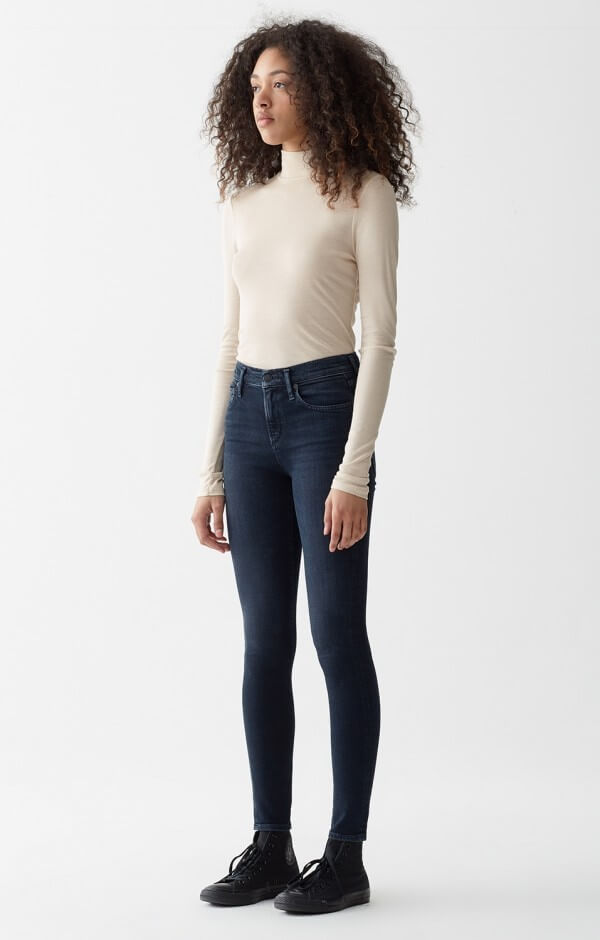 AGoldE Women's Sophie Hi Rise Crop in Vacant