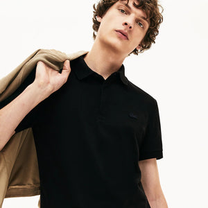 Lacoste Men's Regular Fit Stretch Cotton Paris Polo - black