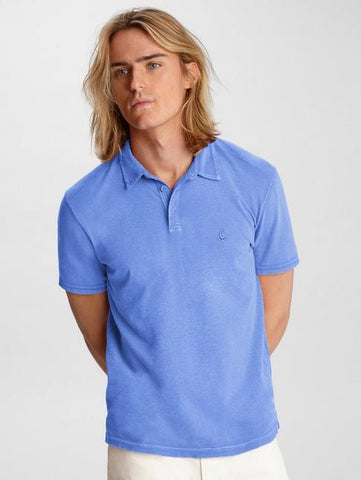 John Varvatos KNOXVILLE S/S PEACE POLO Ocean Blue