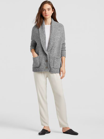 Eileen Fisher Shawl Cowl Cardigan CZF