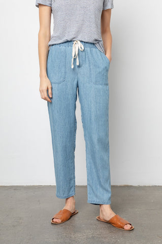 Rails Graham Tencel Drawstring Pant in Medium Vintage