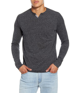 GoodMan Brand LS Victory V-Notch Tee Charcoal Heather