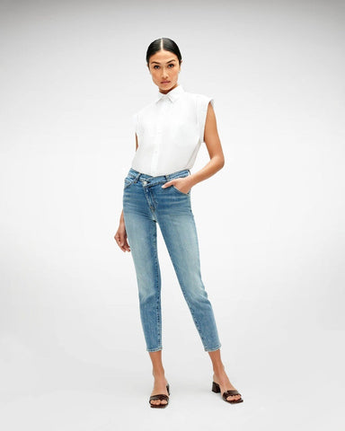 7 For All Mankind Asymmetric Front Skinny