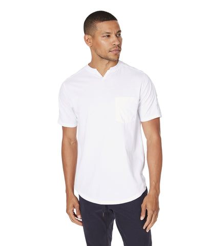 GoodMan Brand SS Notch Neck Crew White