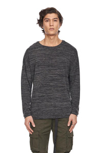 KUWALLA Marled Long Sleeve Sweater - Mix Black