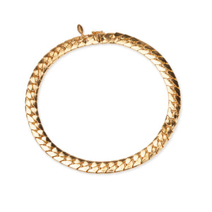 Cuchara Billie large Cuban link flat chain choker in gold