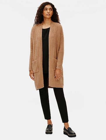 Eileen Fisher Straight Cardigan in Honey