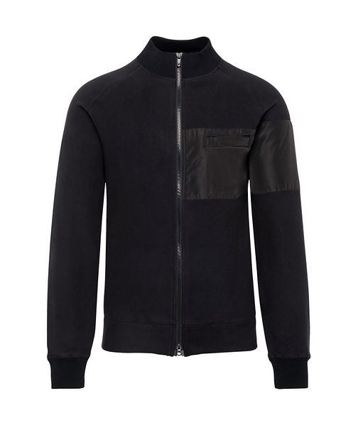 Patrick Assaraf Men's Raglan Sleeve Jacket  - Black