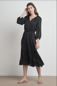Velvet Adeline Schiffli Lace Dress