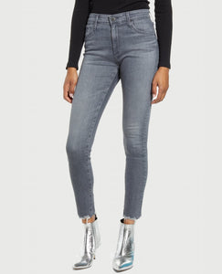 AG Farrah Skinny Ankle Hem Detail in Graylight