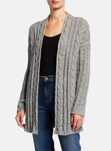 Eileen Fisher Baby Alpaca Cotton Cabled Cardigan