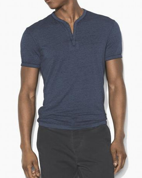 John Varvatos S/S Burnout Snap Henley